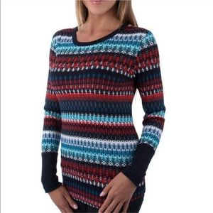 Orvis waffle knit thermal long sleeve skirt NWT